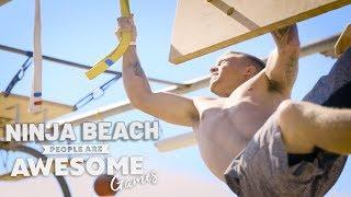 Ninja Beach | Ninja Warrior Course | People Are Awesome Games