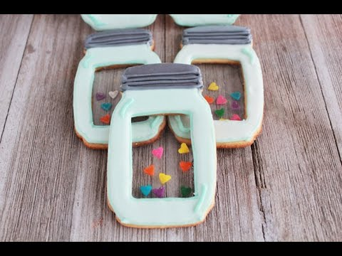 Mason Jar Cookies with Candy Glass Tutorial