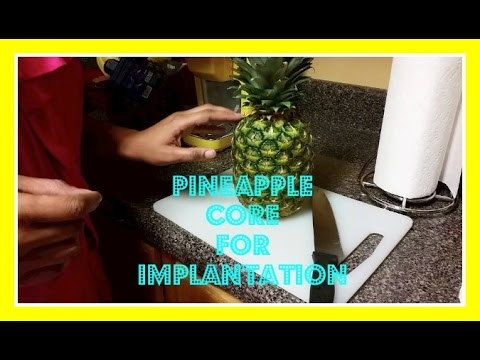 Pineapple Core for Implantation