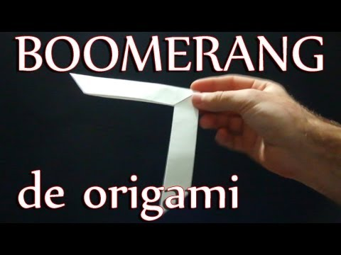 Como hacer un boomerang de papel │ Origami