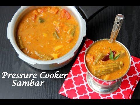 Pressure Cooker Sambar|Easy Kerala Sambar|Onam 2017|Sadya Recipes|Anu's Kitchen