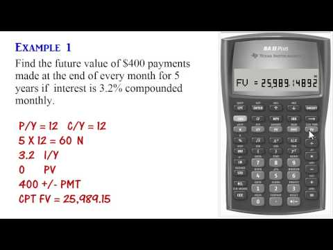 BA II Plus - Ordinary Annuity Calculations (PV, PMT, FV)