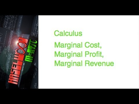 Calculus - 3.4 Notes Example 6:  Marginal Cost, Marginal Profit, Marginal Revenue