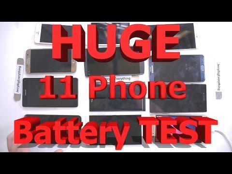 Battery Test: LGG5 vs Galaxy S7 vs iPhone SE vs Nexus 6P vs Note 5