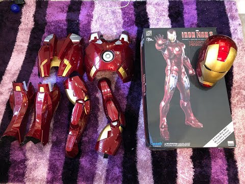 Killerbody 1:1 Iron Man Mark VII Wearable Armour Suit Finished Version Unboxing ENGLISH