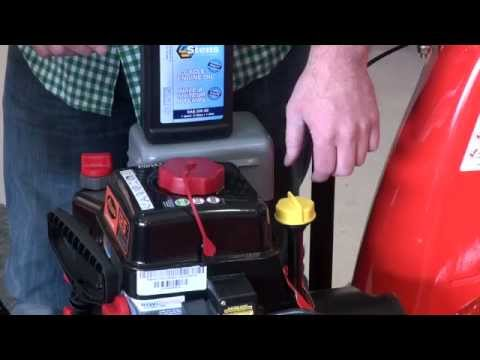How to change the oil on a new Ariens snow blower