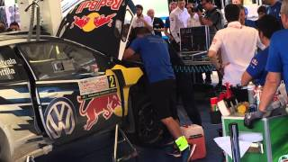 WRC 2015 # J.M. Latvala car crash repair