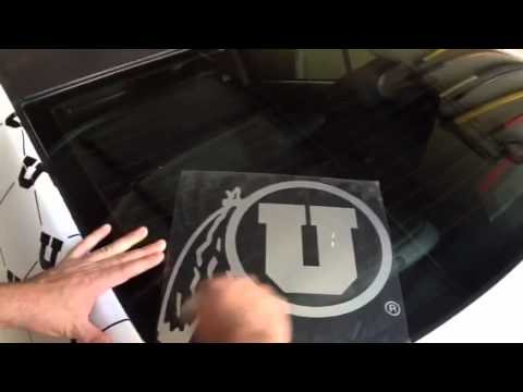 University of Utah chrome decal sticker drum and feather