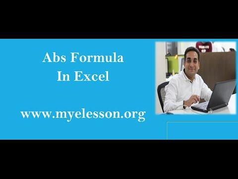MS Excel ABS Formula