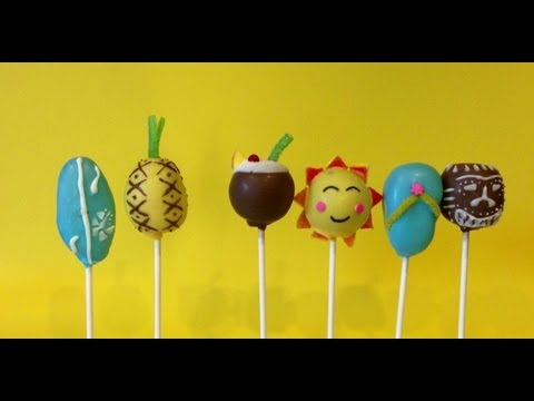 How to make Hawaiian Luau Cake Pops