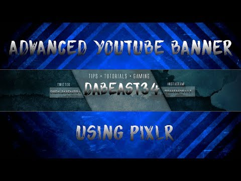 FREE Advanced YouTube Banner (pixlr tutorial)