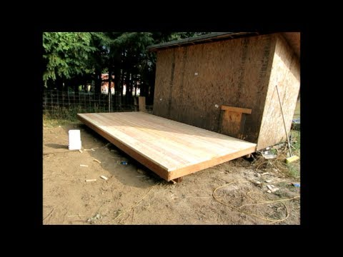 How to build an 8' x 16' wood deck or floor for an outdoor pig pen