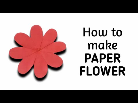 How to make simple & easy paper flower - 1 | Kirigami / Paper Cutting Craft Videos & Tutorials.