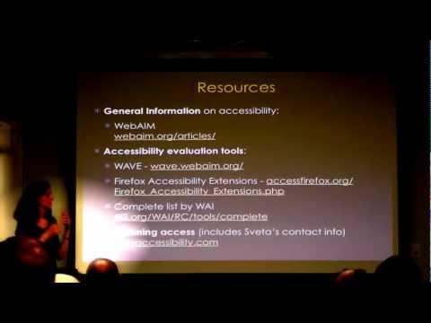 Accessibility and Websites - Svetlana Kouznetsova