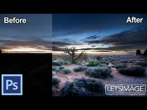 How to Fix an Underexposed Photo in Photoshop - Example: Sunsets Center | Photoshop Tutorial