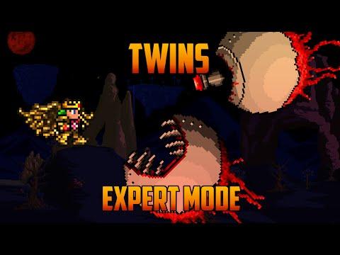 Terraria 1.3 - Twins, Expert Mode Boss Battle