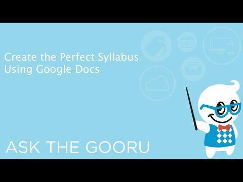 Create the Perfect Syllabus Using Google Docs