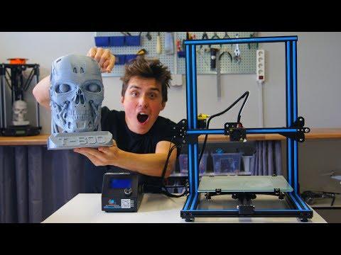 Is the Creality CR-10 Safe? - BIG 3D Printed Terminator Head!!!