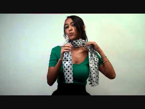 How to Tie a Scarf: French Knot