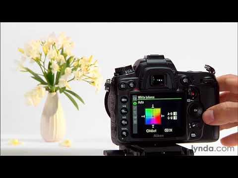 Nikon D7000 tutorial: Using the white balance settings | lynda.com