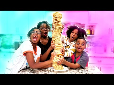 STACKING 100 LAYERS OF PANCAKES!