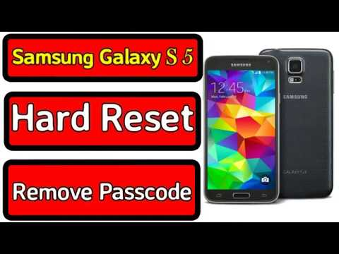 Samsung Galaxy S5 G900F Hard Reset Remove Password Android 6.0.1 Safe Method 2018