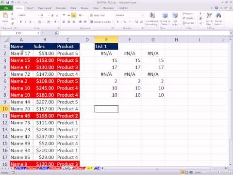 Excel Magic Trick 743: Conditional Formatting To Match Items In List On A Different Sheet