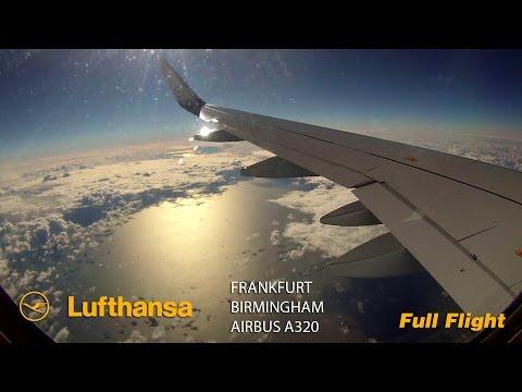Lufthansa A320 Full Flight - Frankfurt to Birmingham (Airbus A320 Sharklets)