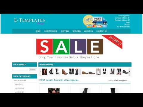 Mobile Responsive eBay Store Template