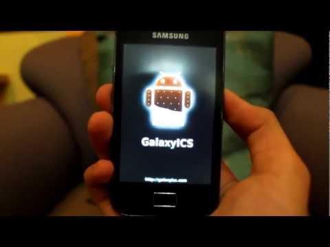 Samsung Galaxy Ace Ice Cream Sandwich Installation