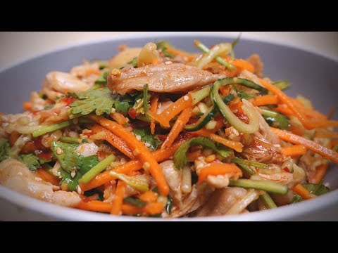 Spicy Shredded Chicken Salad Recipe – From Szechuan, China
