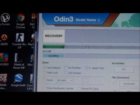 How to flash cwm recovery on Galaxy Mini 2 with Odin1.85