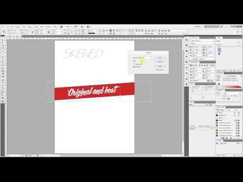 Make font italic using InDesign - skew and shear - Aron Alliston