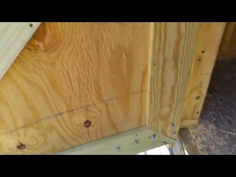 Four Foot Custom Built Wood Shed Door.