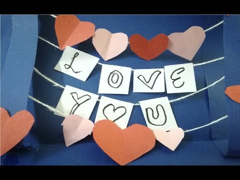 How to make 3D cards for Birthday / Valentines day / Teachers day - PART 1 - Homix creativity