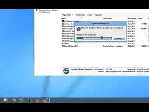 Windows 8 Schritt für Schritt einfach erklärt - OpenOffice wird deinstalliert