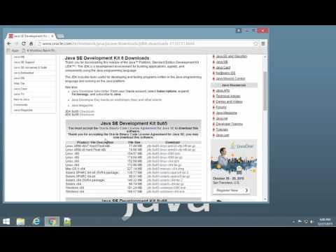 Installing JDK Windows 8.1 - 02 - Downloading JDK