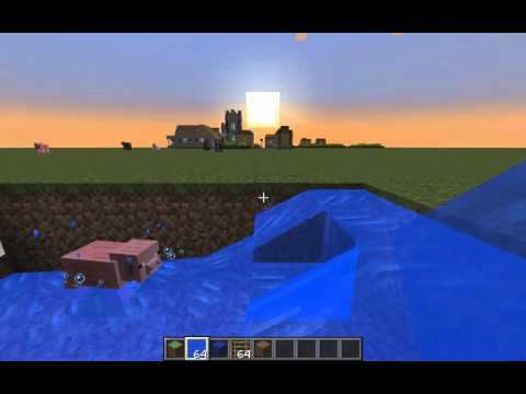How to make a pool with diving board in Minecraft
