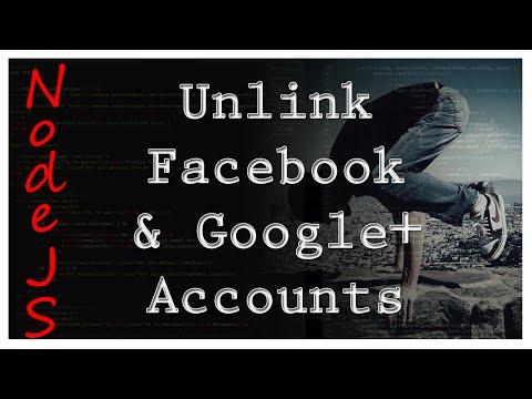 NodeJS - Unlink Facebook & Google+ Accounts - Tutorial 13
