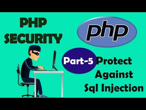 PHP Security | Prevent Sql Injection | Part 5