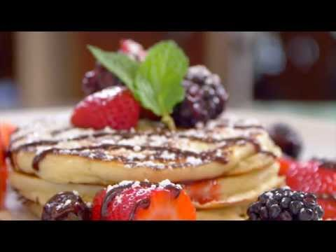 July Recipe - Scottish Pancakes with Mixed Berry Coulis & Chocolate Ganache