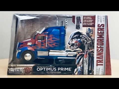 Transformers The Last Knight Optimus Prime Die Cast 1/24 scale UNBOXING