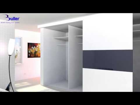 How to install Wardrobe Sliding Doors with Bullers Mars System Track kit - DIY Tutorial