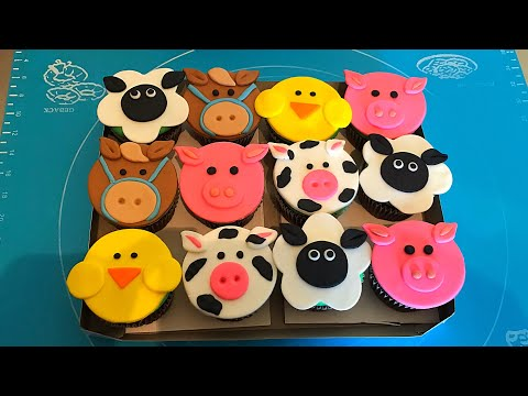 Animalitos de granja para cupcakes (cupcakes toppers)