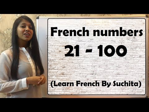 French numbers 21 - 100 (Learn French By Suchita)