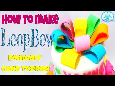 HOW TO MAKE FONDANT LOOP BOW | Kalel's Sweet Tooth
