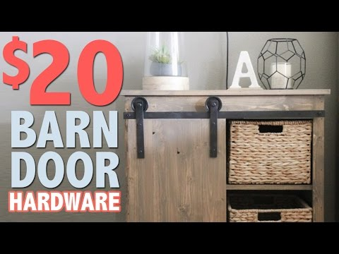 $20 DIY Barn Door Hardware | Shanty2Chic