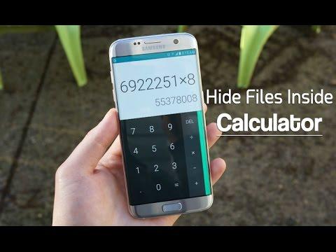 Hiding Files In a Calculator??
