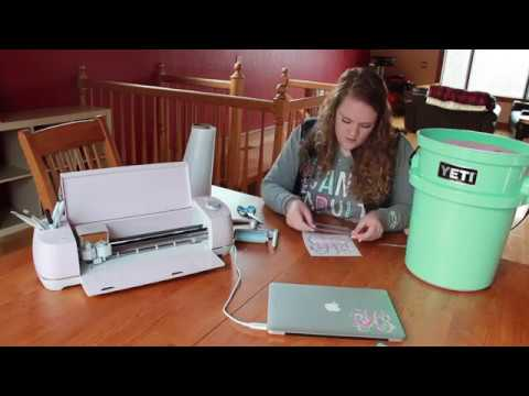 Cricut Video with Lilly Pulitzer vinyl