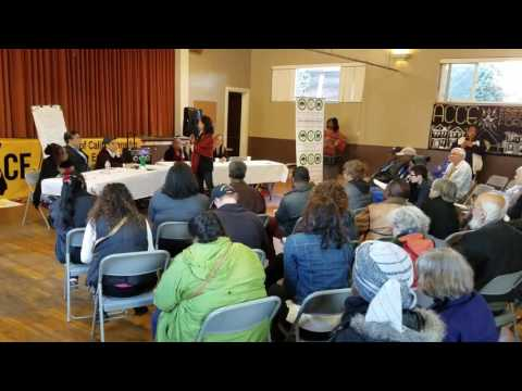 ACCE Political Community Forum for Housing Displacement Crisis in Oakland County of Alameda USA Amer